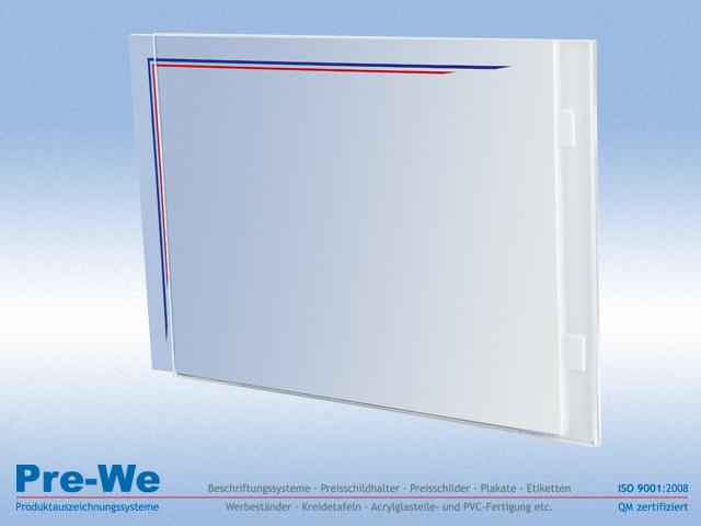 10 plexiglas acrylglas aufsteller acrylglas plakattasche zur wandmontage. Black Bedroom Furniture Sets. Home Design Ideas